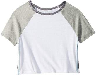 Maddie by Maddie Ziegler Short Sleeve Color Block Tee with Side Stripe Girl's T Shirt