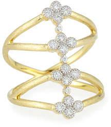 Jude Frances Provence Four Quads Diamond Crisscross Ring