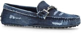 Tod's Denim Gommino Driving Shoes