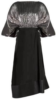 Loewe Bi-colour cocoon-sleeved lurex dress