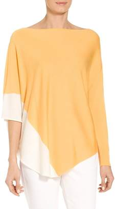 St. John Jersey Knit Asymmetric Sweater