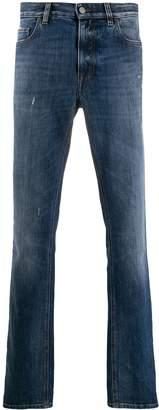 Ermenegildo Zegna distressed straight-leg jeans