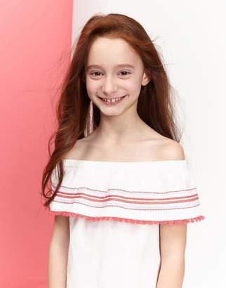 Joules Clothing Cream Malia Woven Dress 32yr