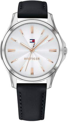 Tommy Hilfiger Vintage Watch With Black Leather Strap