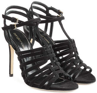 Sergio Rossi Suede Stiletto Sandals