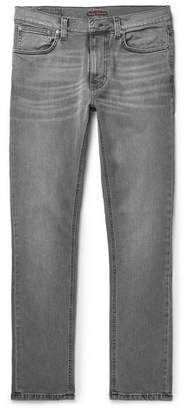 Nudie Jeans Lean Dean Slim-Fit Organic Denim Jeans - Men - Gray