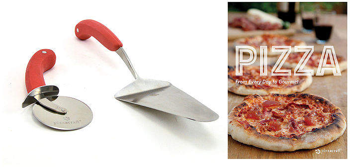 CHARCOAL COMPANION Charcoal Companion 2-Pc. Pizza Serving Set With Recipe Book Pizza Cutter