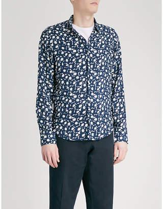 Sandro Floral-print regular-fit woven shirt