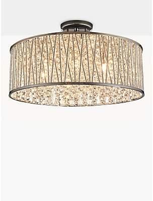 58b1f460e297 John Lewis & Partners Emilia Large Crystal Drum Flush Ceiling Light