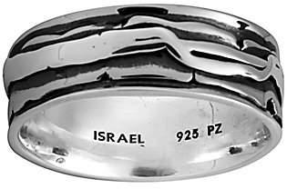 Or Paz Sterling Silver Polished Design Men's Ring