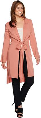 Halston H By H by Long Sleeve Hi-Low Tunic with Extended Self Tie