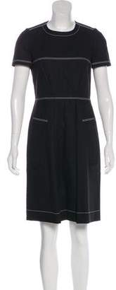 Paule Ka Short Sleeve Knee Length Dress