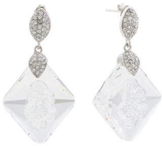 Sterling Silver Swarovski Crystal Druzy Effect Kite Earrings