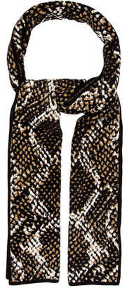 Diane von Furstenberg Multicolor Patterned Scarf w/ Tags $75 thestylecure.com