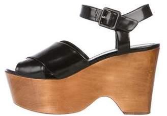 Celine Crossover Platform Sandals