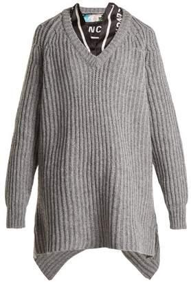 Balenciaga Scarf Sweater - Womens - Grey Multi