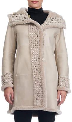 Christia Reversible Lambskin Coat with Fur Lining