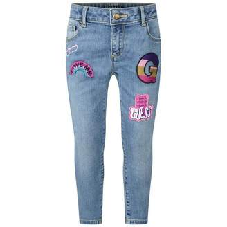 GUESS GuessGirls Blue Denim Applique Jeans