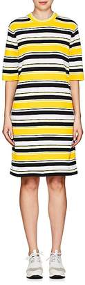 Marc Jacobs Women's Striped Cotton-Blend Mock-Turtleneck Dress