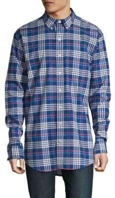 Izod Plaid Big Tall Oxford Shirt