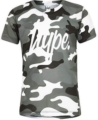 Hype Boys Grey camo T-shirt