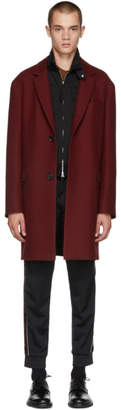 Lanvin Burgundy Wool Coat