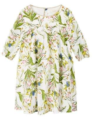 MANGO Floral-print flowy dress
