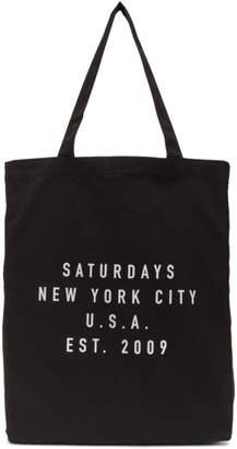 Saturdays NYC Black Established USA Tote