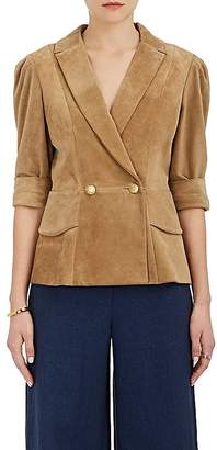 Mayle Maison Women's Vita Suede Double-Breasted Jacket