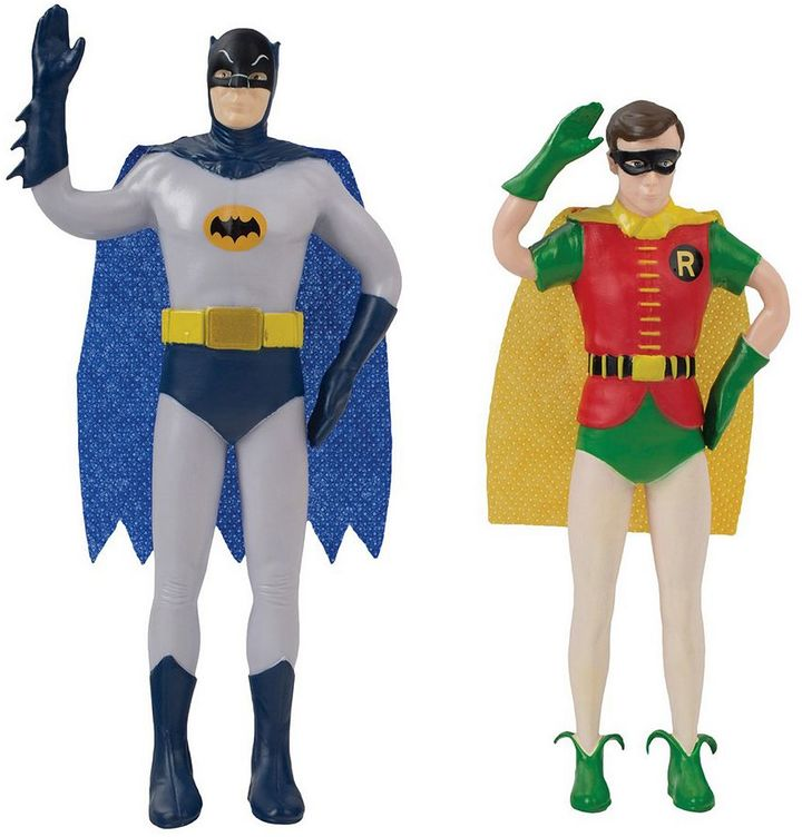 Toysmith DC Comics Batman Classic TV Series Bendable Batman & Robin Action Figures by Toysmith