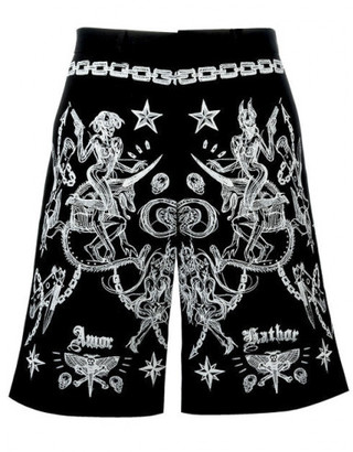 Givenchy tattoo print Bermuda shorts $895 thestylecure.com