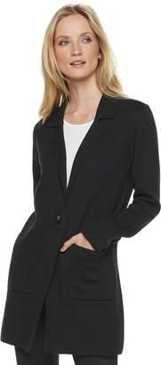 Elle Women's Long Sweater Blazer