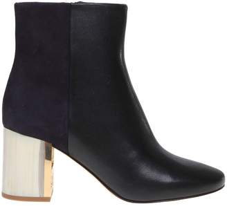 Tory Burch Gigi Leather And Suede Ankle Boot