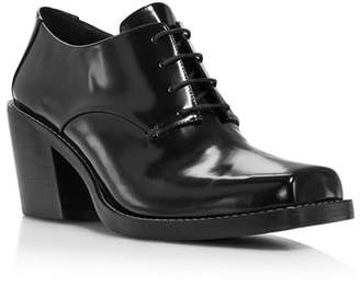 Creatures of Comfort Women's Colin Square Toe Leather Mid-Heel Oxfords