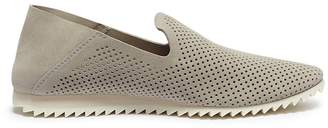 Pedro Garcia 'Cristiane' perforated suede step-in slip-ons