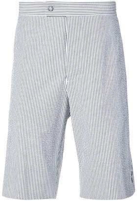 Moncler striped knee length shorts