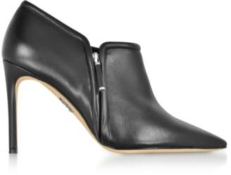 Rodo Black Leather High Heel Booties