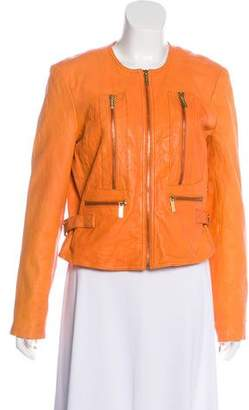 MICHAEL Michael Kors Leather Structured Jacket
