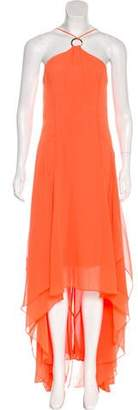 Halston Chiffon High-Low Dress
