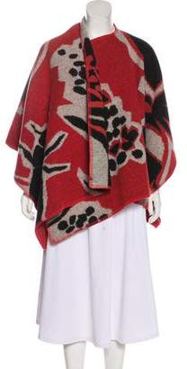 Burberry Wool Patterned Cape