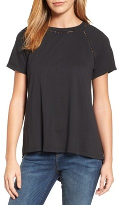 Women's Caslon Lace Back Swing Tee $49 thestylecure.com