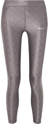 Nike Power Speed Printed Stretch Leggings - Gray
