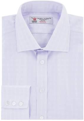 Turnbull & Asser Check Stitch Cotton Shirt