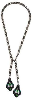 Lanvin Crystal Lariat Necklace