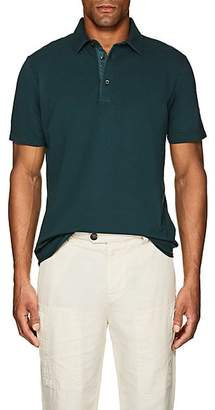 Loro Piana Men's Cotton Piqué Polo Shirt - Green