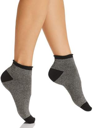 Kate Spade Metallic Micro Stripe Ankle Socks