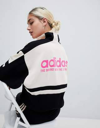 adidas Aa-42 Motorcross Track Jacket In Black