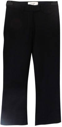 Madame à Paris Black Cotton Trousers for Women