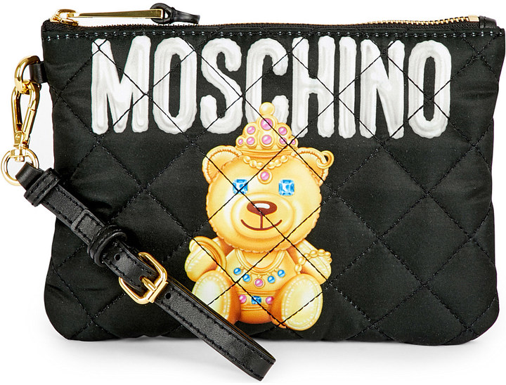 Moschino Moschino Toy bear quilted pouch