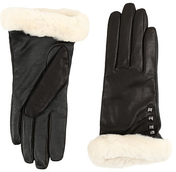 UGG UGG Art Deco Stud Smart Gloves w/ Short Pile Trim